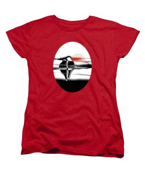 Tranquility Women's T-Shirt (Standard Cut) by AugenWerk Susann Serfezi