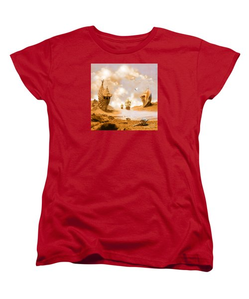 Women's T-Shirt (Standard Cut) featuring the digital art Treasure Island by Alexa Szlavics