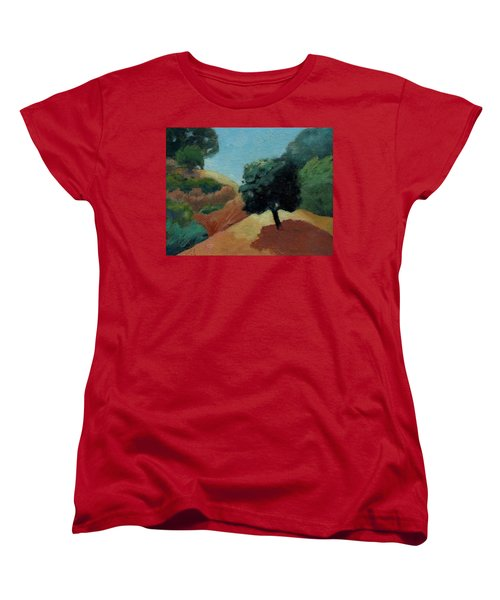 Women's T-Shirt (Standard Cut) featuring the painting Tree Alone by Gary Coleman