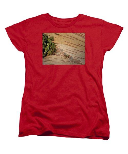 Tree Bark With Lichen Women's T-Shirt (Standard Cut) by Margaret Brooks