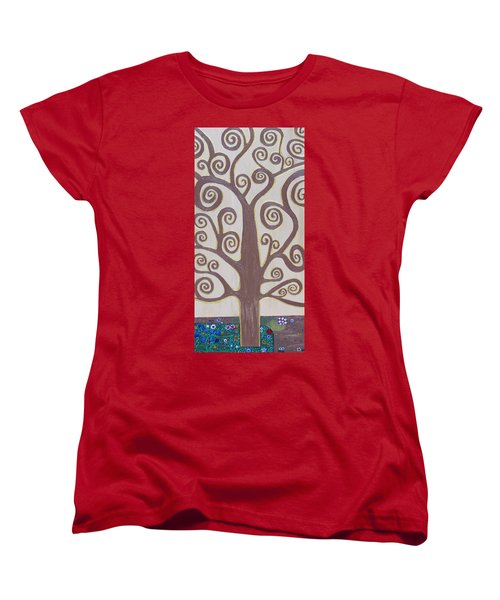 Tree Of Life Women's T-Shirt (Standard Cut) by Angelina Vick