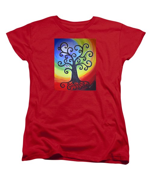 Tree Of Life Love And Togetherness Women's T-Shirt (Standard Cut) by Agata Lindquist