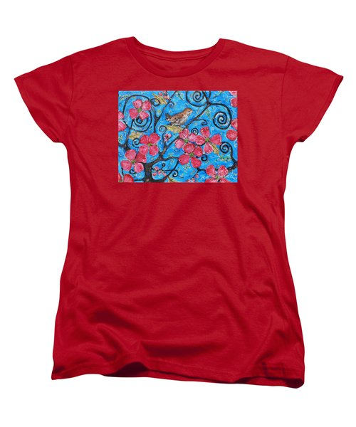 Women's T-Shirt (Standard Cut) featuring the painting Tree Of Life by Reina Resto