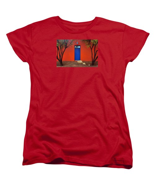 Trees And Door - Barrio Historico - Tucson Women's T-Shirt (Standard Cut) by Nikolyn McDonald