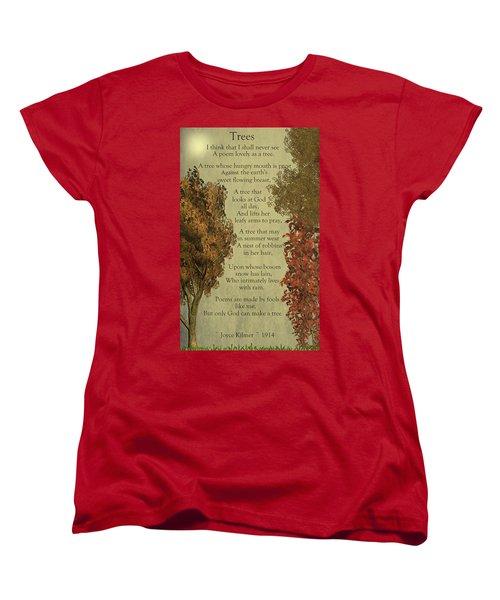 Trees Women's T-Shirt (Standard Cut)