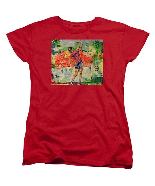 Treibschlag Vom 9 Tee  Drive From The 9th Tee Women's T-Shirt (Standard Cut) by Koro Arandia