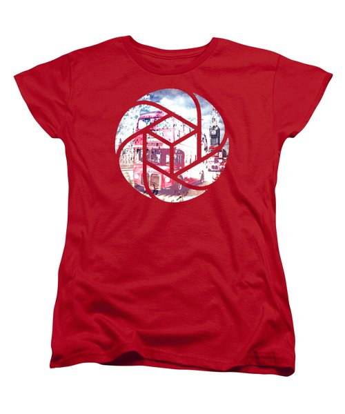 Trendy Design London Red Buses  Women's T-Shirt (Standard Cut) by Melanie Viola