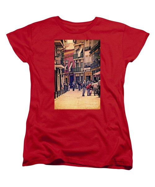 Women's T-Shirt (Standard Cut) featuring the photograph Triana On A Sunday Afternoon 2 by Mary Machare