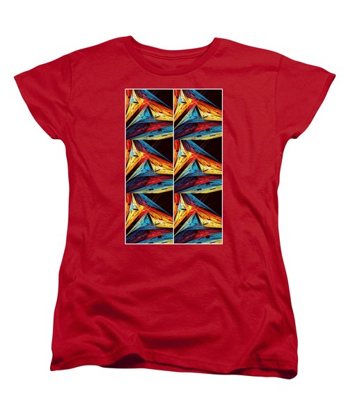 Triangle In Colour Colors Of  Art Women's T-Shirt (Standard Cut) by Sheila Mcdonald