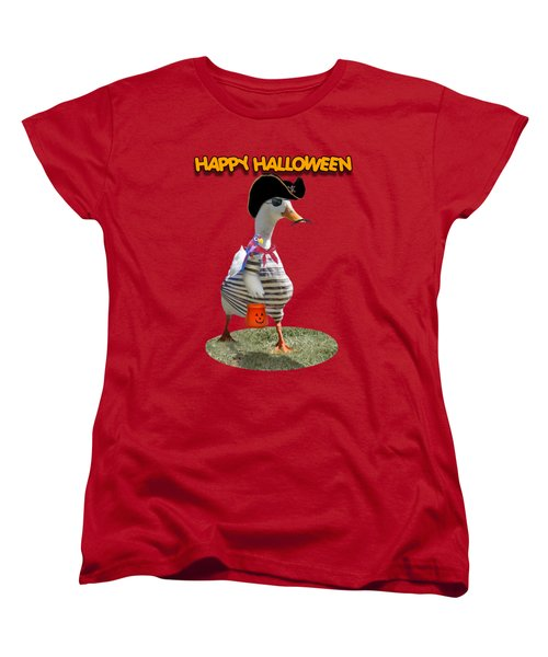 Trick Or Treat For Cap'n Duck Women's T-Shirt (Standard Cut) by Gravityx9 Designs