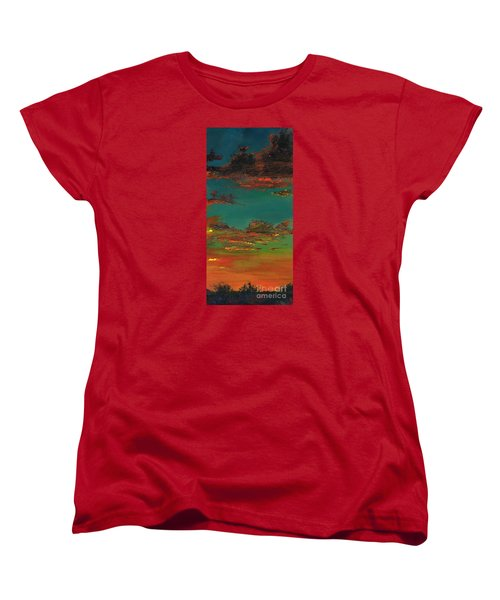 Triptych 3 Women's T-Shirt (Standard Cut) by Frances Marino