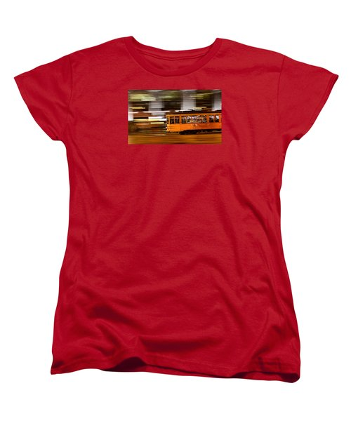 Women's T-Shirt (Standard Cut) featuring the photograph Trolley 1856 On The Move by Steve Siri