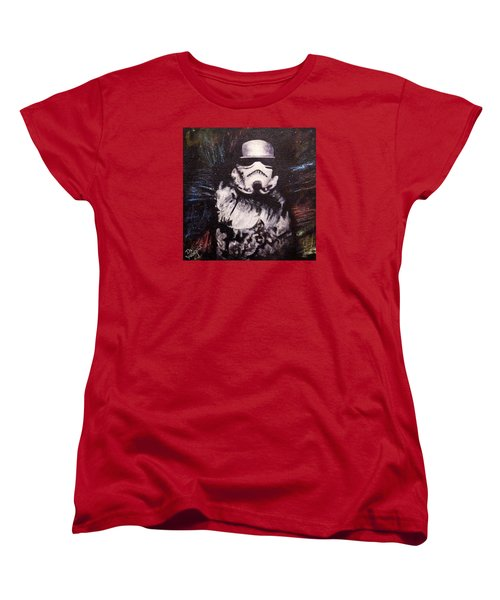 Women's T-Shirt (Standard Cut) featuring the painting Trooper  by Dan Wagner