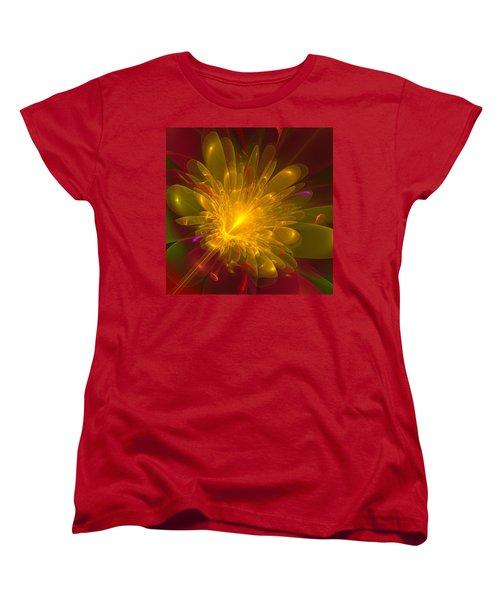 Tropical Flower Women's T-Shirt (Standard Cut) by Svetlana Nikolova