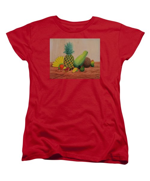 Tropical Fruits Women's T-Shirt (Standard Cut) by Hilda and Jose Garrancho