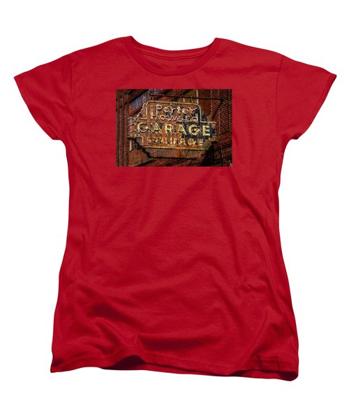 Women's T-Shirt (Standard Cut) featuring the photograph Trust In Rust by Linda Unger