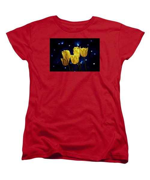 Women's T-Shirt (Standard Cut) featuring the photograph Tulip Twinkle by Tom Mc Nemar