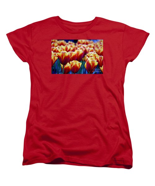 Tulips At Sunset Women's T-Shirt (Standard Cut) by Michael Cinnamond