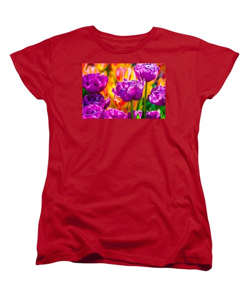 Women's T-Shirt (Standard Cut) featuring the photograph Tulips Enchanting 41 by Alexander Senin