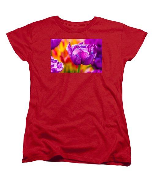 Women's T-Shirt (Standard Cut) featuring the photograph Tulips Enchanting 43 by Alexander Senin