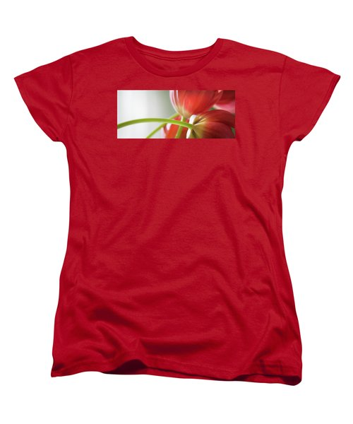 Tulips In The Morning Women's T-Shirt (Standard Cut) by Theresa Tahara