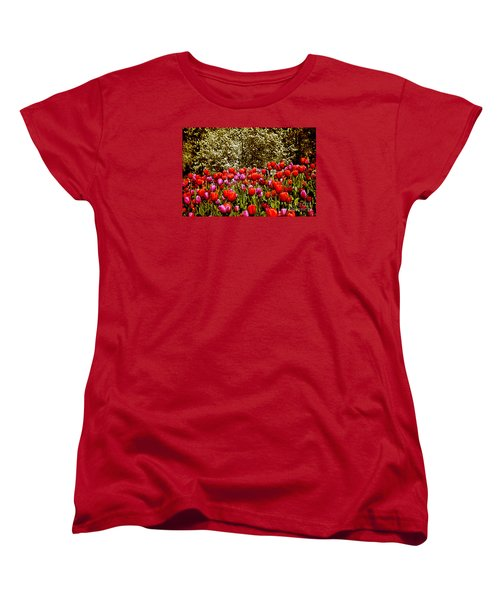 Women's T-Shirt (Standard Cut) featuring the photograph Tulips by Milena Ilieva
