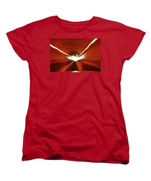 Women's T-Shirt (Standard Cut) featuring the photograph Tunnel Vision by Gray  Artus