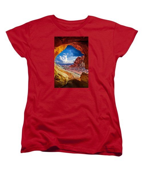 Tunnel Vision Women's T-Shirt (Standard Cut) by Renee Sullivan