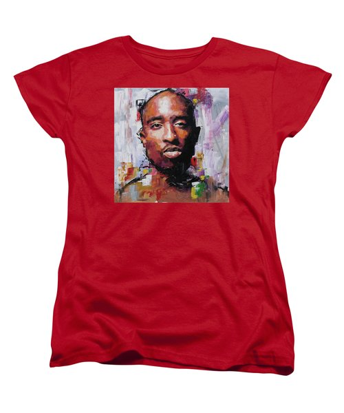 Tupac Women's T-Shirt (Standard Cut) by Richard Day