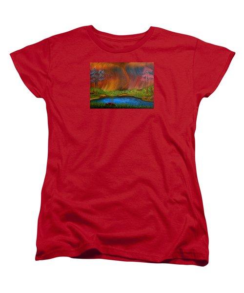 Women's T-Shirt (Standard Cut) featuring the painting Turmoil by Sheri Keith