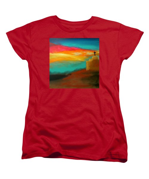 Turquoise Trail Sunset Women's T-Shirt (Standard Cut) by Keith Thue