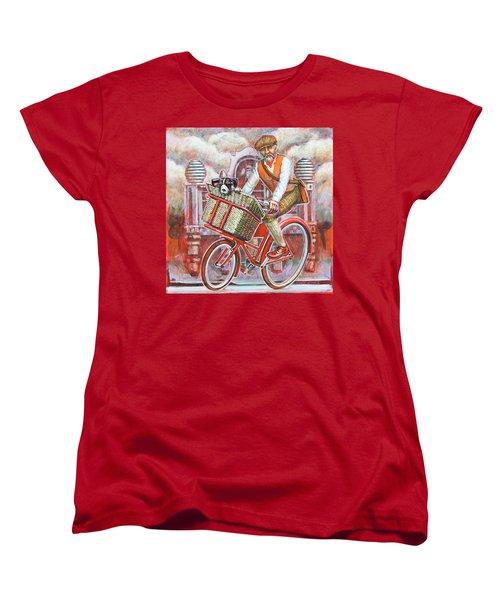 Tweed Runner On Red Pashley Women's T-Shirt (Standard Cut) by Mark Jones