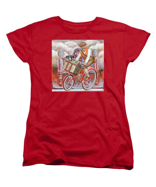 Tweed Runner On Red Pashley Women's T-Shirt (Standard Cut)