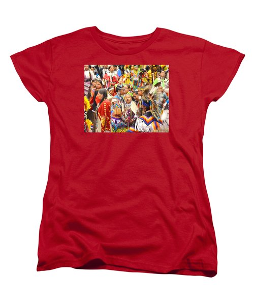 Tweens At Grand Entry Women's T-Shirt (Standard Cut) by Clarice  Lakota