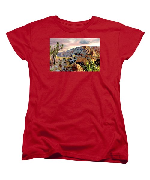 Twilight At Joshua Women's T-Shirt (Standard Cut) by Ron Chambers
