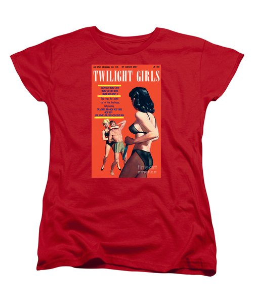 Women's T-Shirt (Standard Cut) featuring the painting Twilight Girls by Doug Weaver