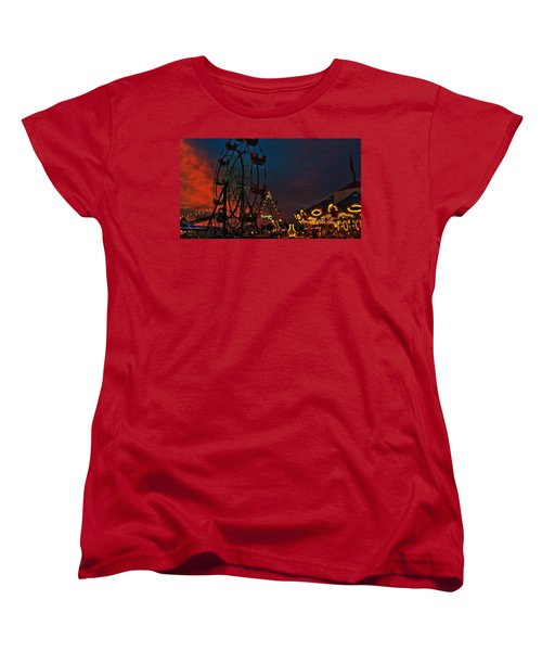 Twilight On The Midway  Women's T-Shirt (Standard Cut) by John Harding