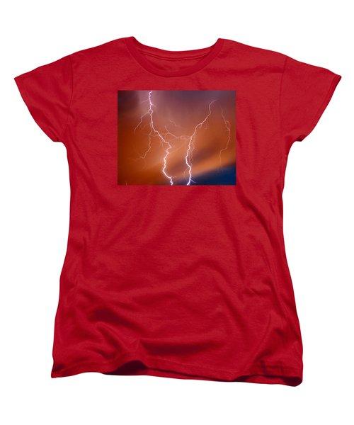 Twin Strike Women's T-Shirt (Standard Cut) by Anthony Jones