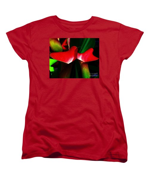 Women's T-Shirt (Standard Cut) featuring the photograph Twins by Elfriede Fulda