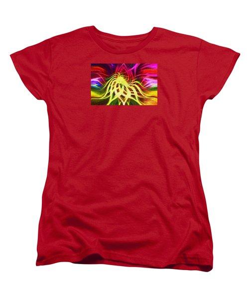 Women's T-Shirt (Standard Cut) featuring the photograph Twirly Mandala 01 by Jack Torcello