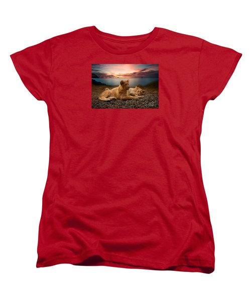 Women's T-Shirt (Standard Cut) featuring the photograph Two by Christine Sponchia