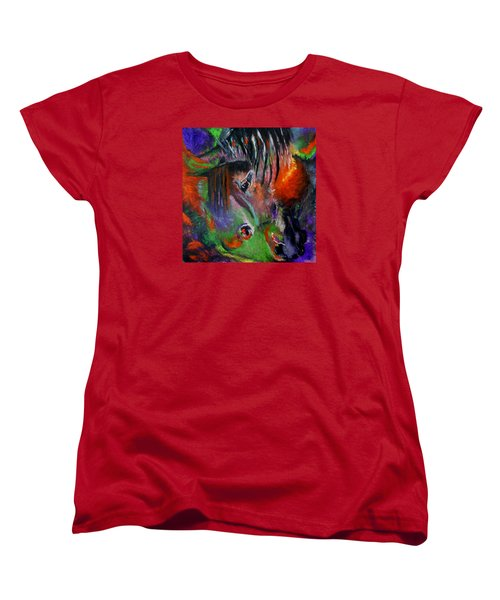 Two Horses Women's T-Shirt (Standard Cut) by Maris Sherwood
