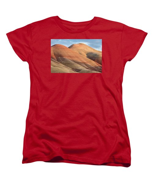 Women's T-Shirt (Standard Cut) featuring the photograph Two Painted Hills by Greg Nyquist