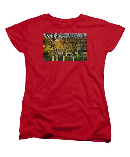 Un Cheteau Dans Le Paradis - Two Of Two  Women's T-Shirt (Standard Cut) by Sir Josef - Social Critic -  Maha Art
