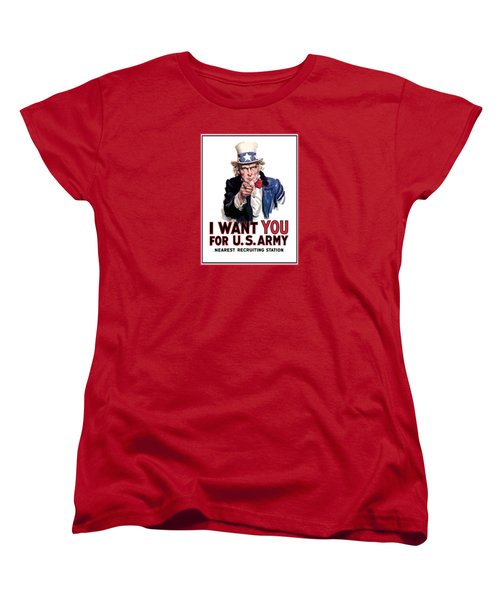 Uncle Sam -- I Want You Women's T-Shirt (Standard Cut) by War Is Hell Store