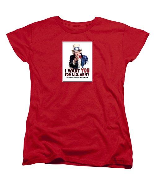 Uncle Sam -- I Want You Women's T-Shirt (Standard Cut)