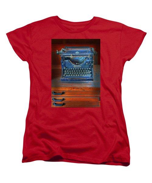 Underwood Typewriter Women's T-Shirt (Standard Cut) by Dave Mills