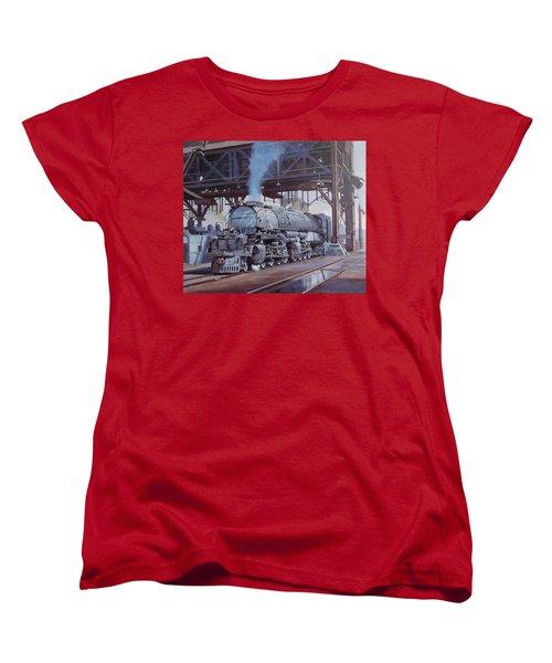 Union Pacific Big Boy Women's T-Shirt (Standard Cut) by Mike  Jeffries