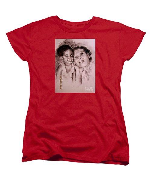 Women's T-Shirt (Standard Cut) featuring the drawing Unlimited Love 2 by Jason Sentuf
