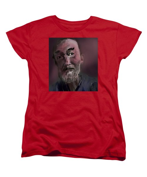Women's T-Shirt (Standard Cut) featuring the painting Untitled - 26nov2016 by Jim Vance